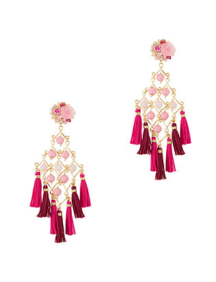 Mercedes Salazar EXCLUSIVE Fiesta Earrings: Pink