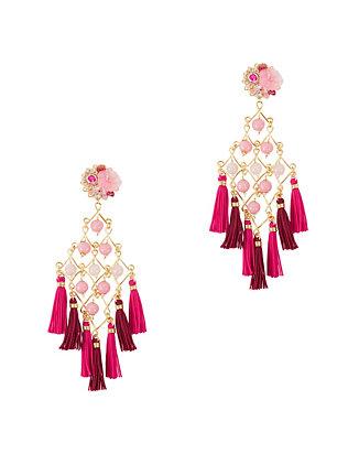 Fiesta Earrings: Pink