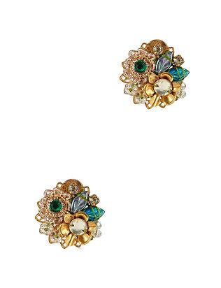 Fiesta Button Embellished Earrings