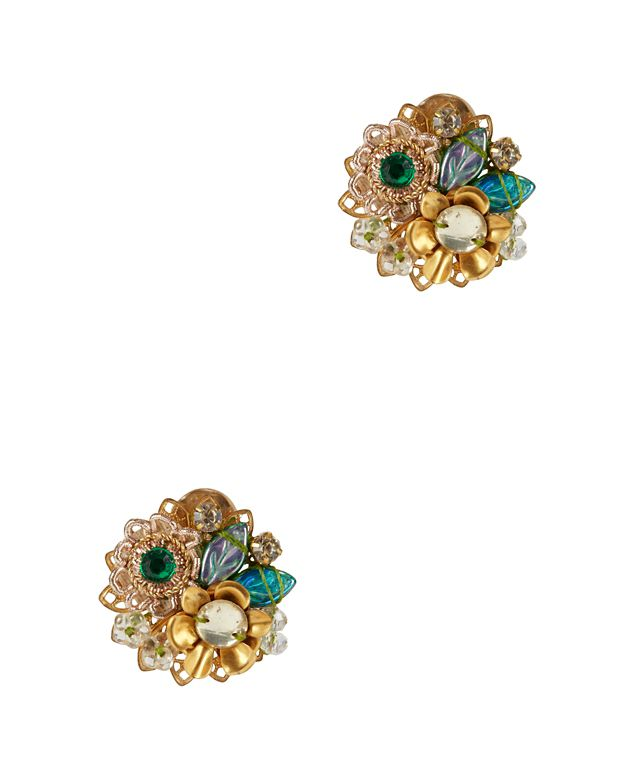 Mercedes Salazar EXCLUSIVE Fiesta Button Embellished Earrings