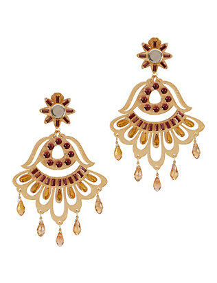 Fiesta Earrings: Gold