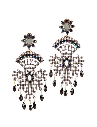 Mercedes Salazar Fiesta Gingham Beaded Earrings