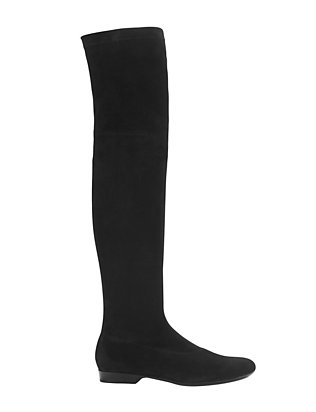 Robert Clergerie OTK Suede Flat Boot: Black