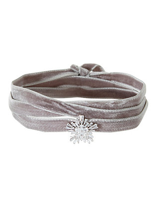 Monarch Velvet Starburst Wrap Choker