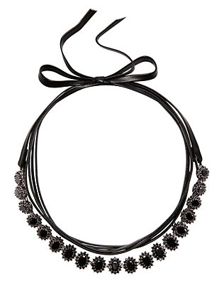 Monarch Mini Oval Surround Wrap Choker