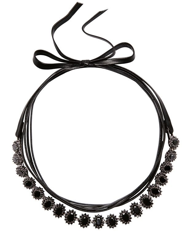 Fallon Monarch Mini Oval Surround Wrap Choker