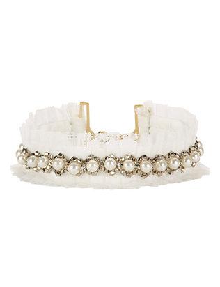 Monarch Austen Tulle/Pearl Choker