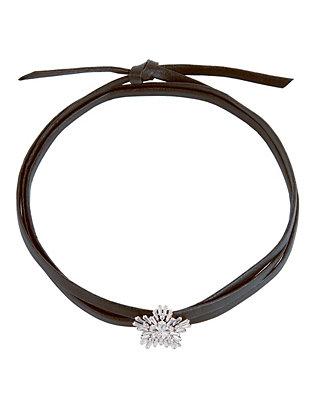 Monarch Leather Starburst Wrap Choker