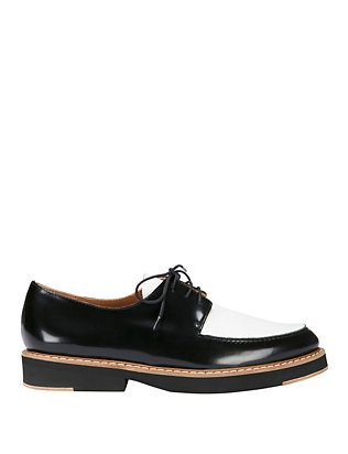 Flamingos Franklin Lace-Up Oxfords: Black/White