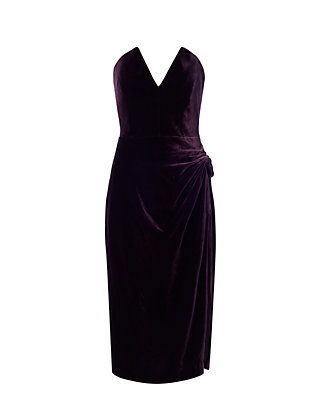 Velvet Strapless Dress