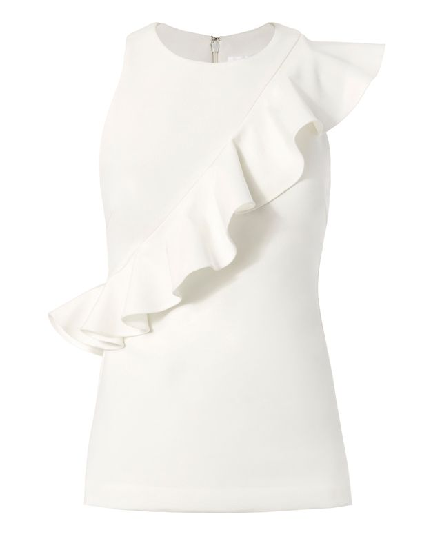 Cushnie Et Ochs Power Ruffle Top