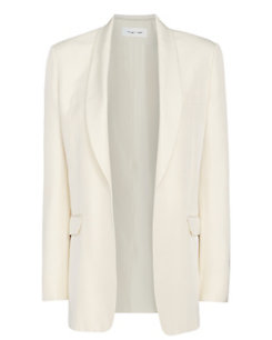Helmut Lang Oversized Silk Suiting Blazer