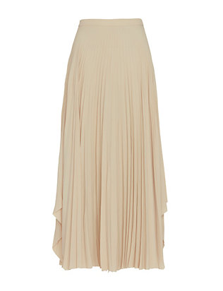 Helmut Lang Pleated Skirt: Oyster