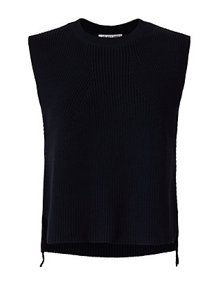 Helmut Lang Knit Shell: Navy
