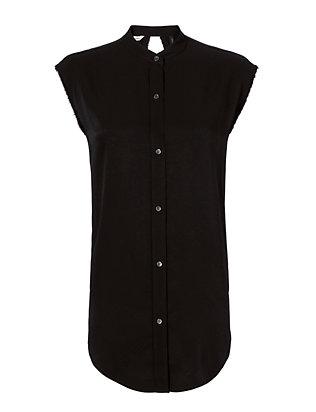 Knot Back Jacquard Shirt