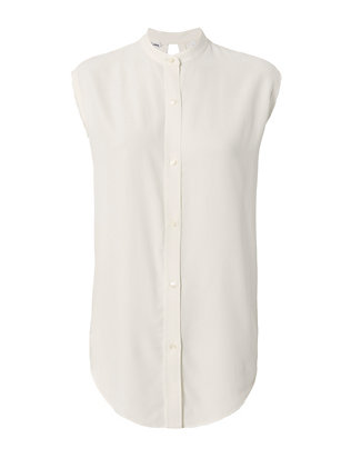 Knot Back Jacquard Sleeveless Shirt