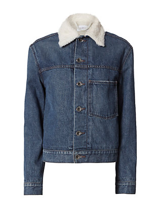 Helmut Lang Sherpa Lined Denim Jacket