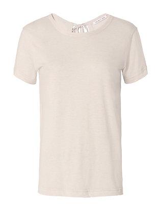 Tie Back Cotton/Cashmere Tee