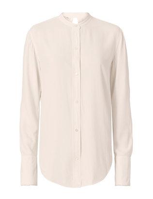 Knot Back Jacquard Shirt: White