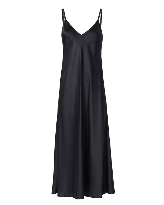 Helmut Lang Silk Satin Slip Dress
