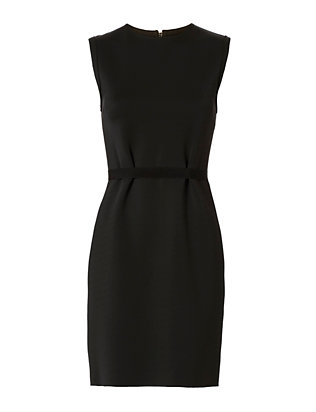 Neoprene Scuba Dress: Black