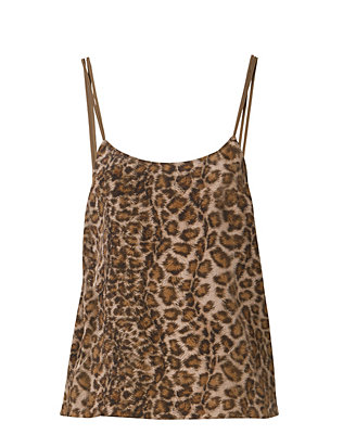 Leopard Print Silk Cami