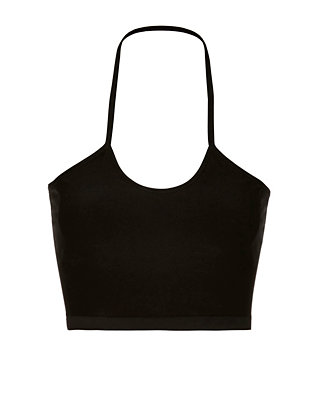 Black Halter Bra Top