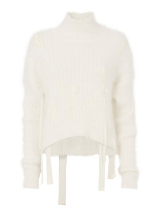 Helmut Lang Ribbon Detail Turtleneck