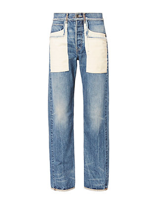Patch Pocket Boyfriend Jeans