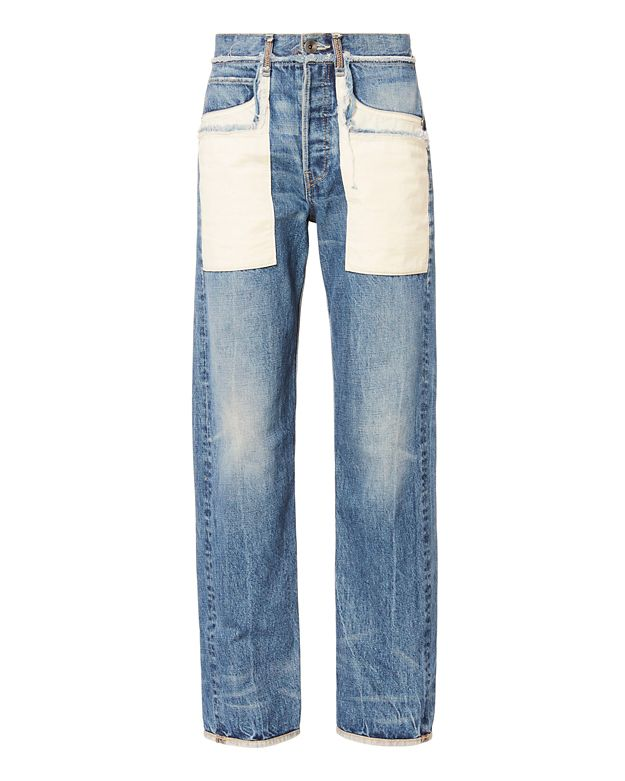 Helmut Lang Patch Pocket Boyfriend Jeans