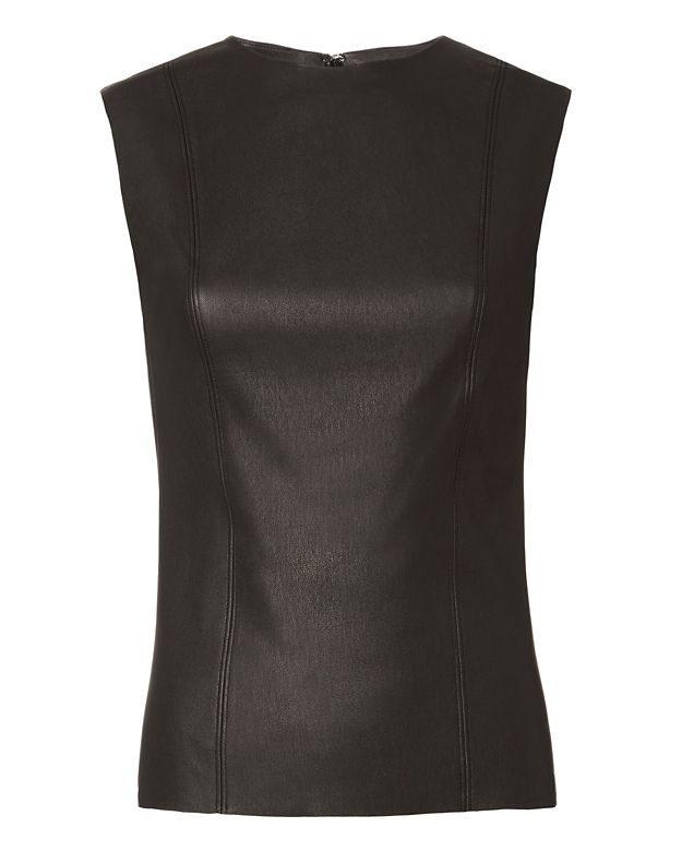 Helmut Lang Stretch Leather Sleeveless Top