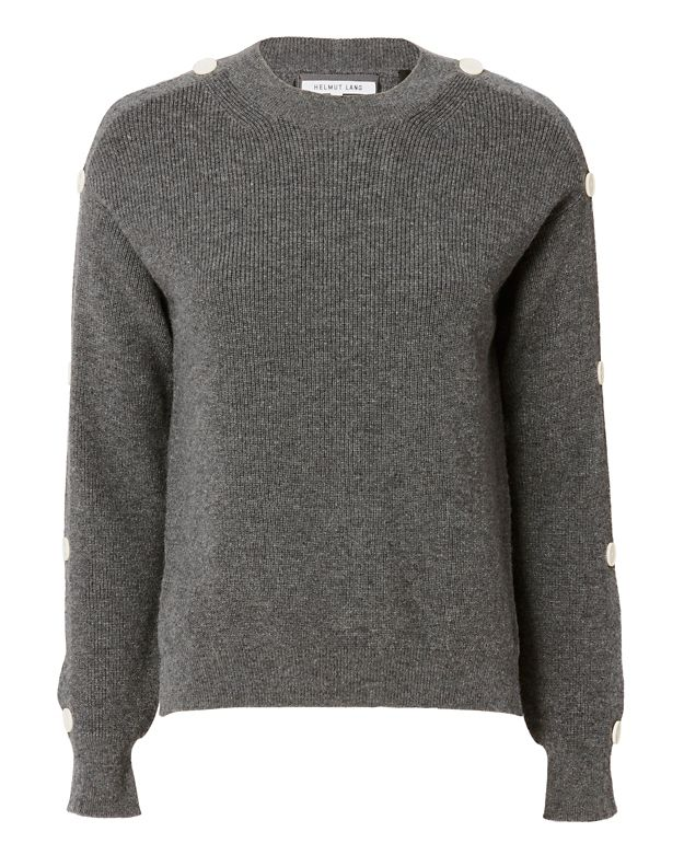 Helmut Lang Button Sleeve Knit