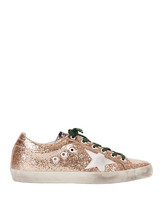 Super Star Gold Glitter Sneakers