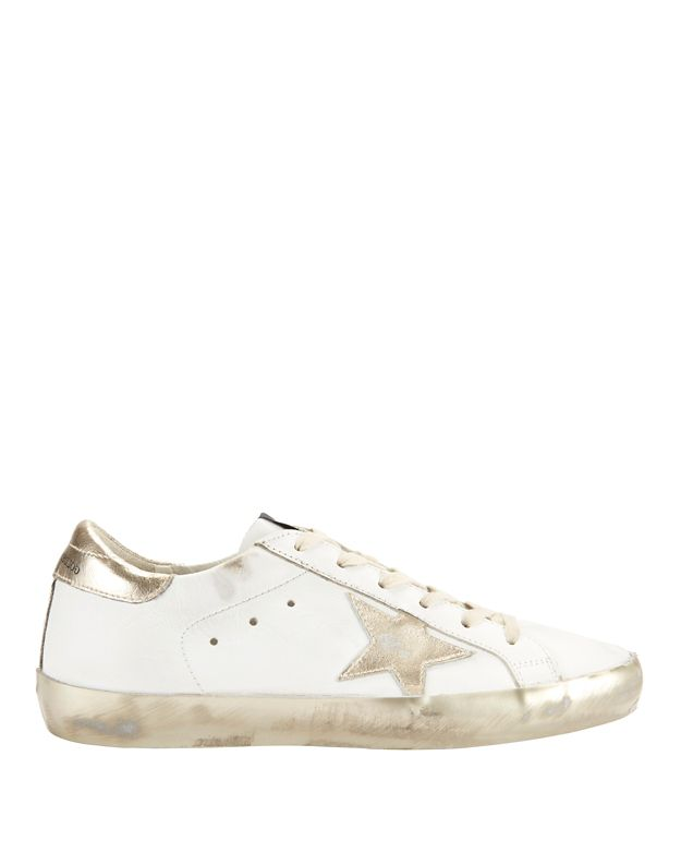 Golden Goose Super Star White Leather Sneakers