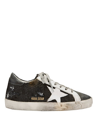 Super Star Distressed Canvas Sneakers