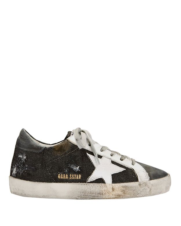 Golden Goose Super Star Distressed Canvas Sneakers