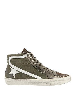 Hi Top Slide Canvas Sneakers