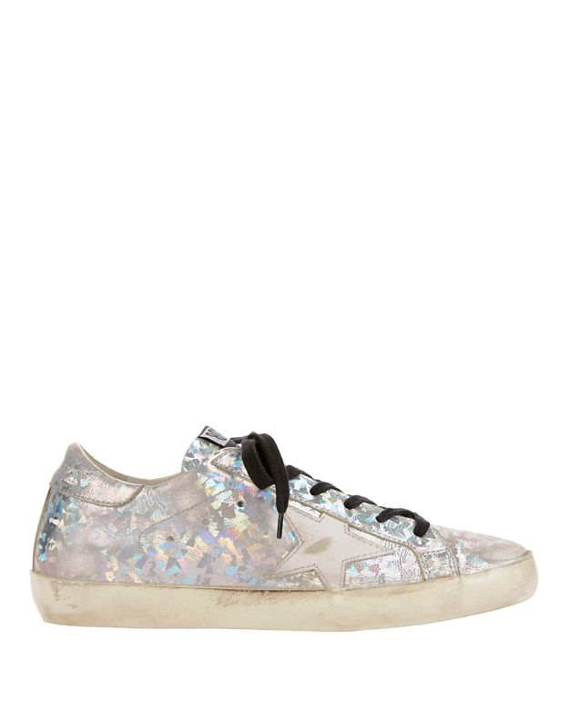 Golden Goose Superstar Hologram Silver Sneakers
