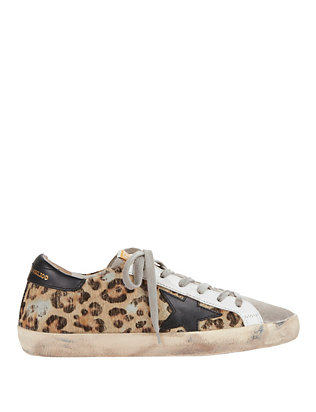 Superstar Animal Print Haircalf Sneakers