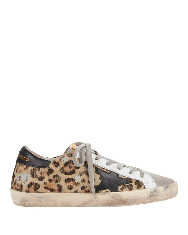Golden Goose Superstar Animal Print Haircalf Sneakers