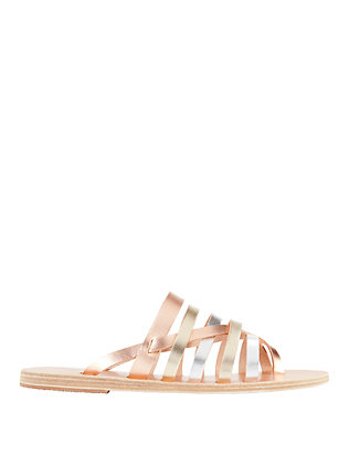 Ancient Greek Sandals Gaia Two-Tone Metallic Sandals