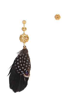 Mallarino Gala Feather Earrings