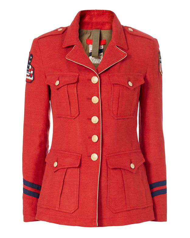 History Repeats Red Military Jacket