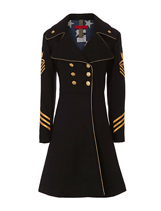 History Repeats Military Coat: Black