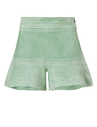 Alexis Guy Suede Flare Short