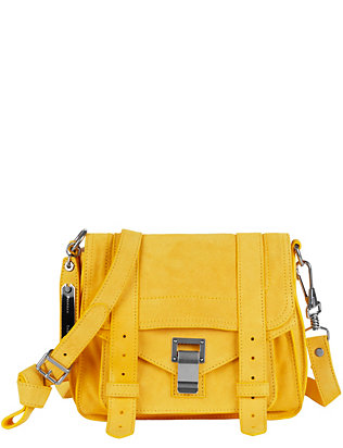 Proenza Schouler PS1 Pouch Suede Crossbody: Yellow