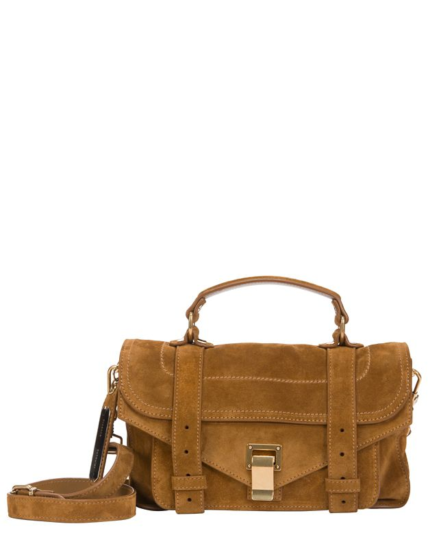 Proenza Schouler PS1 Tiny Suede Crossbody: Brown