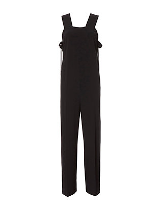 Side Tie Apron Jumpsuit