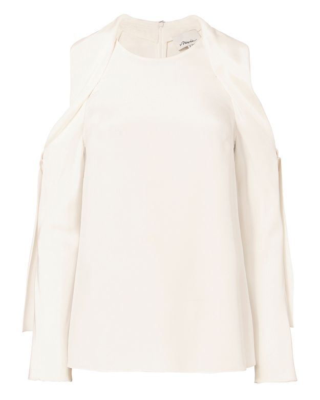 3.1 Phillip Lim Silk Cold Shoulder Top