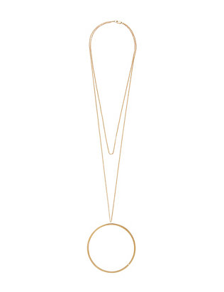 Jennifer Zeuner EXCLUSIVE Harper Circle Pendant Necklace
